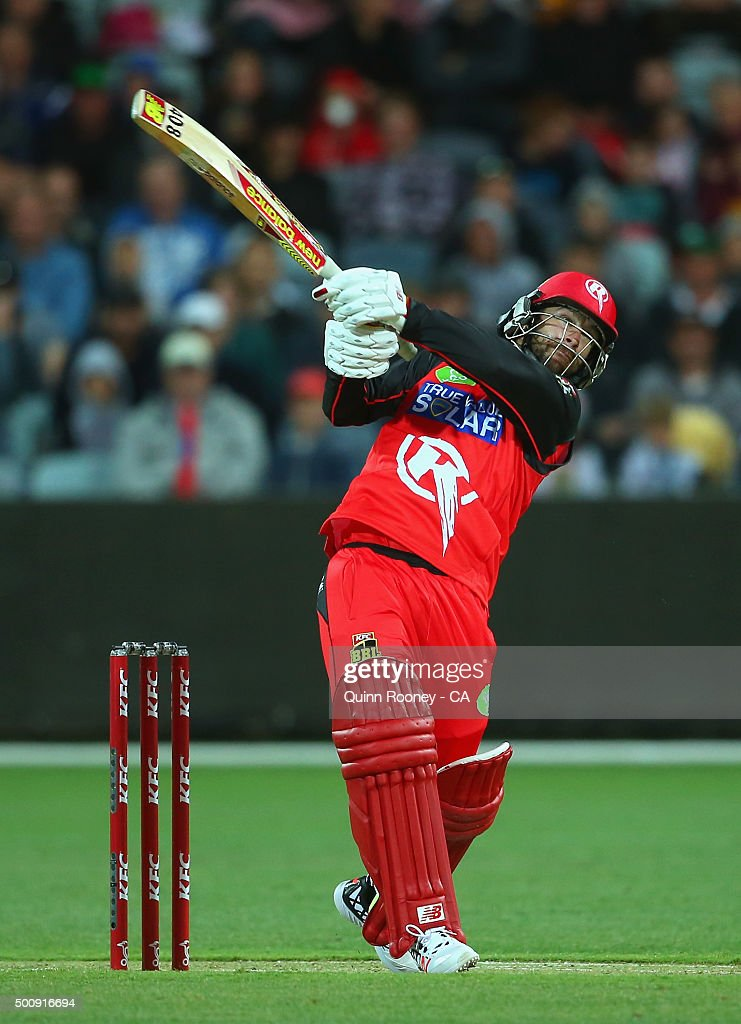 Matthew Wade of the Renegades bats during the Big Bash League exhibition match between the Melbourne Stars and the Melbourne Renegades at Simonds Stadium on December 11, 2015 in Geelong, Australia.