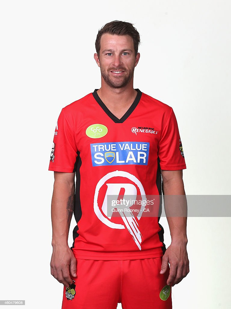 Matthew Wade of the Renegades poses during the Melbourne Renegades Big Bash League headshots session at Soniq Headquarters on December 15, 2014 in Melbourne, Australia.