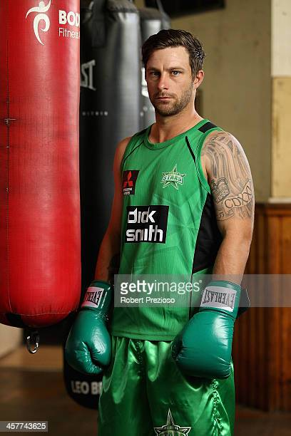 Matthew Wade of the Stars poses for photos during a Melbourne Stars Melbourne Renegades joint Big Bash League media session at Leo Barry's Gym on...