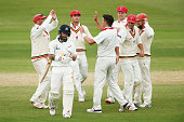 Matthew Wade of the VIC Bushrangers leaves the field after getting out to Daniel Worrall of the Redbacks during day 2 of the Sheffield Shield Final...