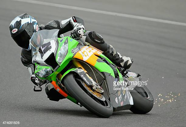 Matthew Walters of Australia and Team Pedercini during practice ahead of round one of the 2014 World Superbike Championship at Phillip Island Grand...
