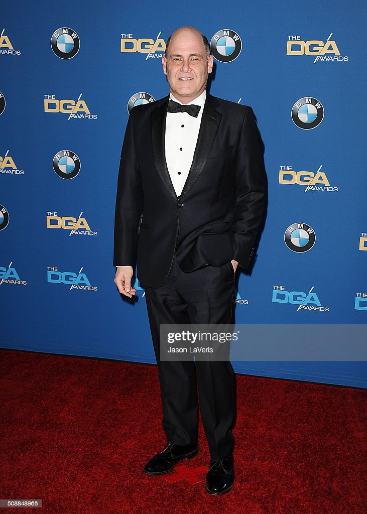 Matthew Weiner attends the 68th annual Directors Guild of America Awards at the Hyatt Regency Century Plaza on February 6, 2016 in Los Angeles, California.