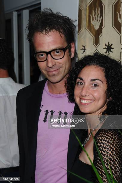 Matthew White and Joyce attend Bret Easton Ellis to celebrate the publication of his new novel IMPERIAL BEDROOMS at Penthouse on June 10 2010 in...