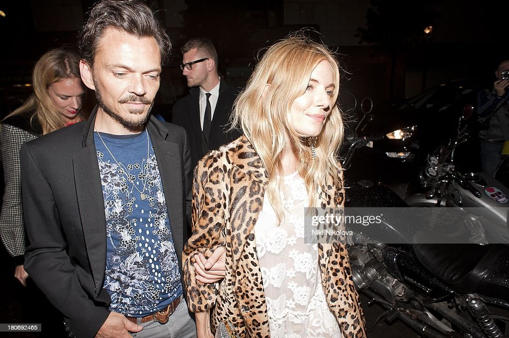 Matthew Williamson and <a gi-track='captionPersonalityLinkClicked' href=/galleries/search?phrase=Sienna+Miller&family=editorial&specificpeople=171883 ng-click='$event.stopPropagation()'>Sienna Miller</a> attend a private dinner hosted by British Vogue celebrating London Fashion Week SS14 on September 15, 2013 in London, England.