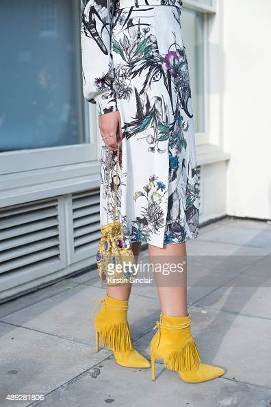 Matthew Williamson PR Gabriella Fores who wears all Matthew Williamson and Mathew Williamson in collaboration with Bionda Castana shoes on day 2...