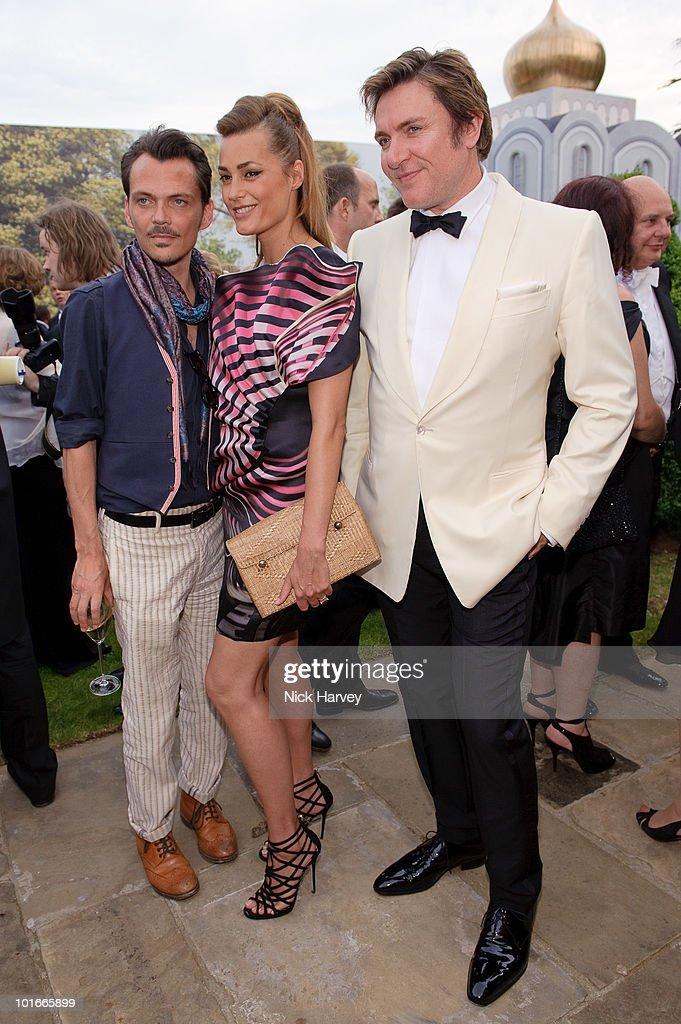 Matthew Williamson, Yasmin le Bon and Simon le Bon attend the annual Raisa Gorbachev Foundation Party at Stud House, Hampton Court on June 5, 2010 in London, England.