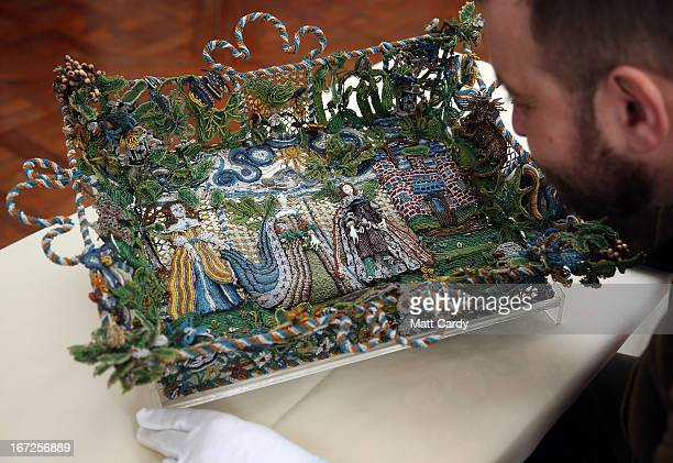 Matthew Winterbottom Curator of Decorative Art holds a rare seventeenthcentury beadwork basket that the Holburne Museum has launched a appeal to...