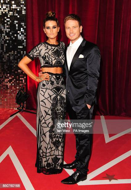 Matthew Wolfenden and Charley Webb arriving for the 2013 British Soap Awards at MediaCityUK Salford Manchester
