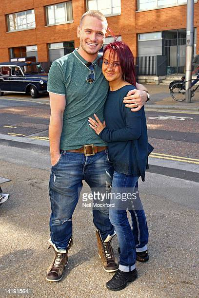 Matthew Wolfenden and Nina Ulanova seen leaving the ITV Studios after winning 'Dancing on Ice' on March 26 2012 in London England