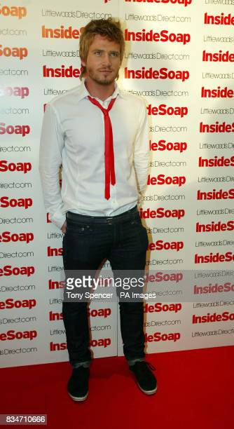 Matthew Wolfenden arrives for the Inside Soap Nominations party at the Oyster Bar and Restaurant Great John Street Manchester