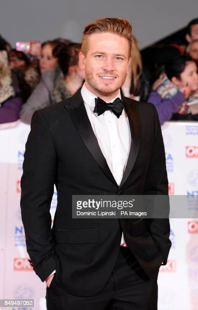 Matthew Wolfenden arriving for the 2013 National Television Awards at the O2 Arena London