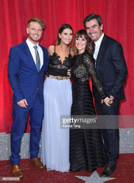 Matthew Wolfenden Charley Webb Zoe Henry and Jeff Hordley attend the British Soap Awards at The Lowry Theatre on June 3 2017 in Manchester England