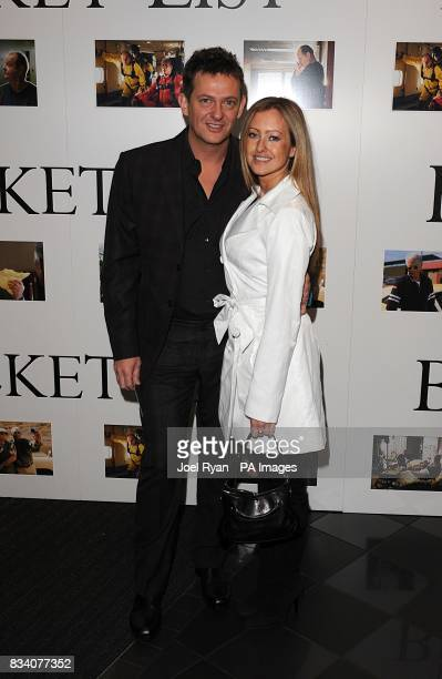 Matthew Wright and partner arrive for the UK Premiere of The Bucket List at the Vue West End London
