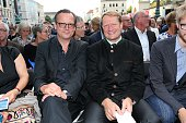 Matthias Brandt and Wilhelm Ulrich Intendant Bayerischer Rundfunk during the MercedesBenz reception at 'Klassik am Odeonsplatz' 2016 on July 17 2016...
