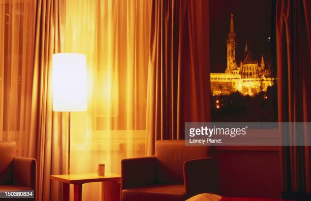 Matthias Church at Castle Hill from room at Art'otel Budapest.