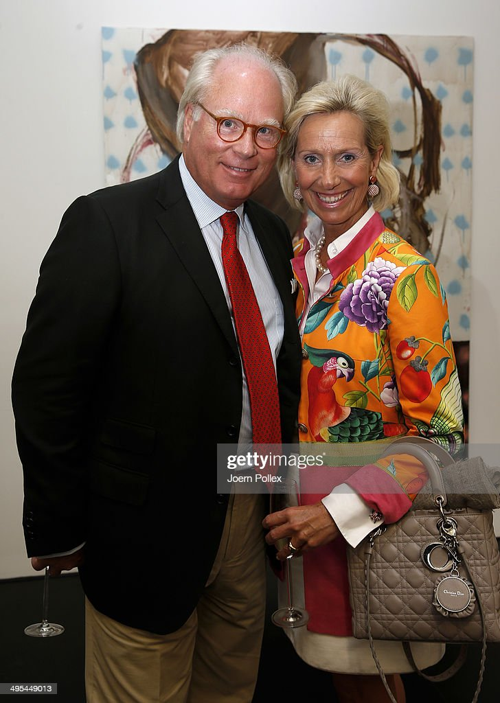 Matthias count to Castell-Ruedenhausen and his wife, countess Christiane pose during the 'Dawid Tomaszewki Pop-Up Store Opening' on June 3, 2014 in Hamburg, Germany.