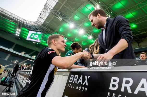 Matthias Ginter of Borussia Moenchengladbach after the Bundesliga match between Borussia Moenchengladbach and 1 FC Koeln at BorussiaPark on August 20...