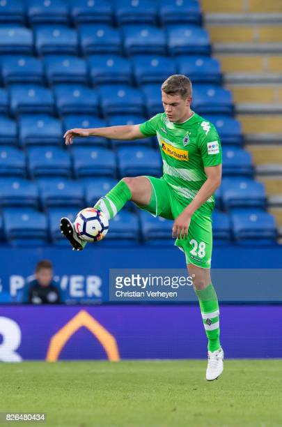 Matthias Ginter of Borussia Moenchengladbach controls the ball during a friendly match between Leicester City and Borussia Moenchengladbach at King...