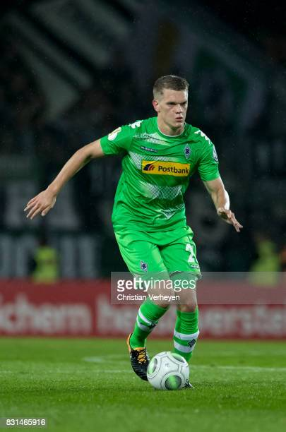 Matthias Ginter of Borussia Moenchengladbach controls the ball during the DFB Cup match between Rot Weiss Essen and Borussia Moenchengladbach at...