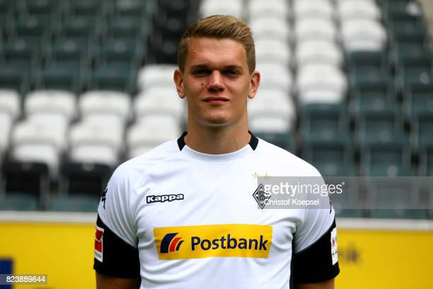 Matthias Ginter of Borussia Moenchengladbach poses during the team presentation at Borussia Park on July 28 2017 in Moenchengladbach Germany
