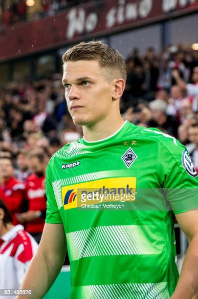 Matthias Ginter of Borussia Moenchengladbach seen ahead the DFB Cup match between Rot Weiss Essen and Borussia Moenchengladbach at Stadion Essen on...