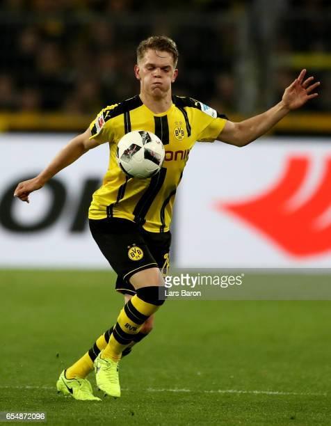 Matthias Ginter of Dortmund runs with the ball during the Bundesliga match between Borussia Dortmund and FC Ingolstadt 04 at Signal Iduna Park on...