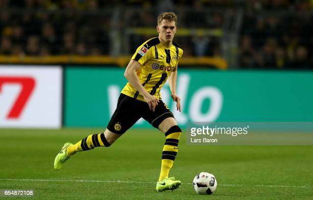 Matthias Ginter of Dortmund runs with the ball during the Bundesliga match between Borussia Dortmund and FC Ingolstadt 04 at Signal Iduna Park on...