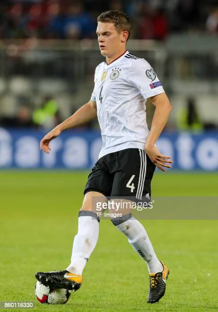 Matthias Ginter of Germany in action during the FIFA 2018 World Cup Qualifier between Germany and Azerbaijan at FritzWalter Stadium on October 8 2017...
