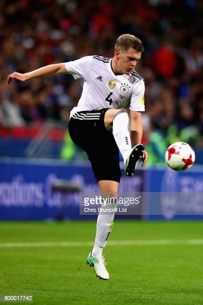 Matthias Ginter of Germany in action during the FIFA Confederations Cup Russia 2017 Group B match between Germany and Chile at Kazan Arena on June 22...