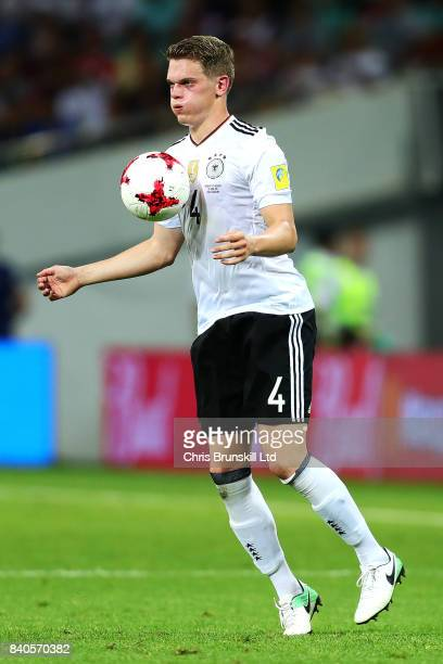 Matthias Ginter of Germany in action during the FIFA Confederations Cup Russia 2017 SemiFinal between Germany and Mexico at Fisht Olympic Stadium on...