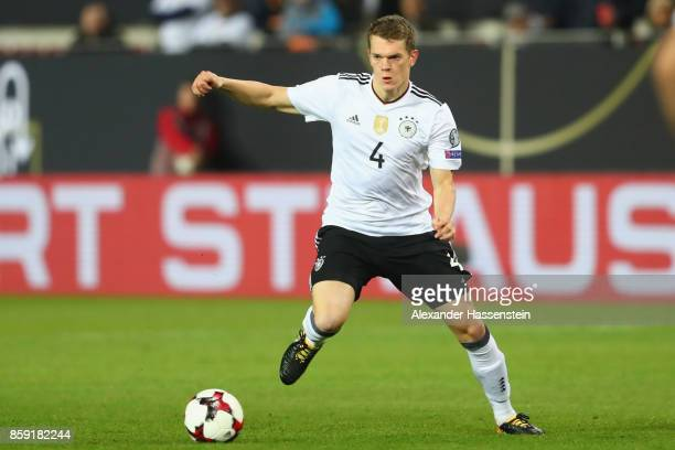 Matthias Ginter of Germany runs with the ball during the FIFA 2018 World Cup Qualifier between Germany and Azerbaijan at FritzWalterStadion on...