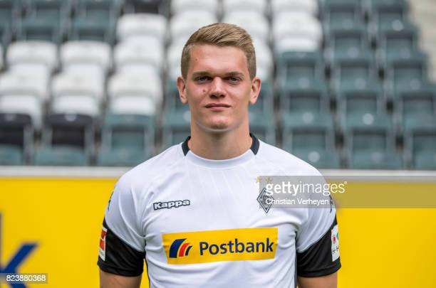 Matthias Ginter pose during the team presentation of Borussia Moenchengladbach at BorussiaPark on July 28 2017 in Moenchengladbach Germany