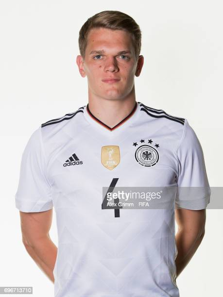 Matthias Ginter poses for a picture during the Germany team portrait session on June 16 2017 in Sochi Russia