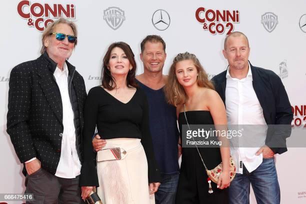 Matthias Habich Iris Berben Til Schweiger Emma Schweiger and Heino Ferch attend the 'Conni Co 2 Das Geheimnis des TRex' premiere on April 9 2017 in...