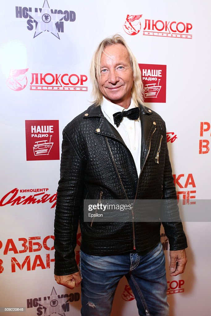 Matthias Hues attends 'Showdown in Manila' premiere in October cinema hall on February 9, 2016 in Moscow, Russia.