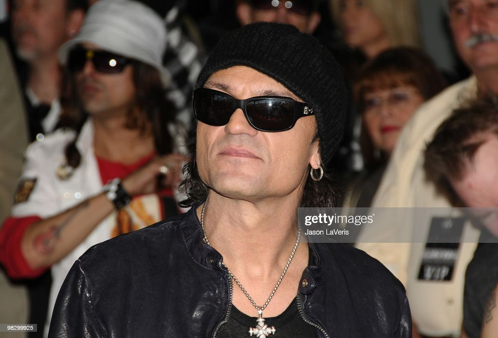 Matthias Jabs of The Scorpions is inducted into the Hollywood RockWalk on April 6, 2010 in Hollywood, California.