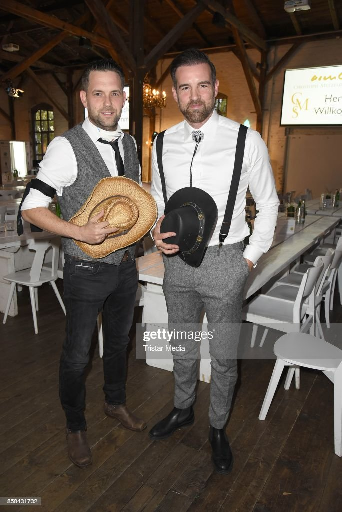 Matthias Killing and Christoph Metzelder attend the 'CMS Gamblers Night - Western Style' of Christoph Metzelder Foundation on October 6, 2017 in Berlin, Germany.