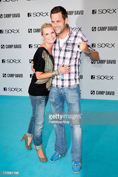Matthias Killing and Svenja Dierk attend the Camp David And Soccx Fashion Night 2013 at Event Island Berlin on July 3 2013 in Berlin Germany