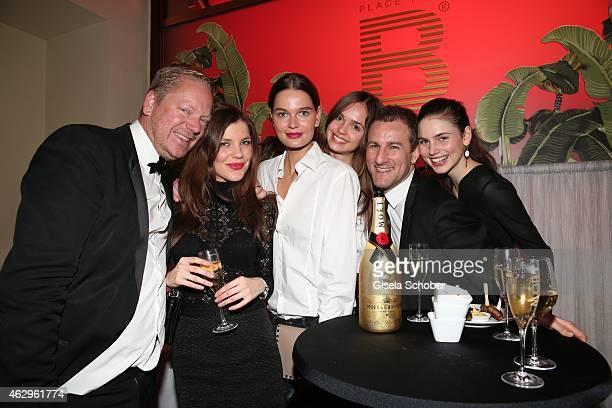 Matthias Koeppel Marien Ihm Pauline Klingelhofer Irma Spiehs Ingo Nolden Klaudia Bulka during the Bild 'Place to B' Party at Borchardt Restaurant on...