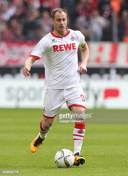 Matthias Lehmann of Cologne controls the ball during the Bundesliga match between 1 FC Koeln and SV Darmstadt 98 at RheinEnergieStadion on April 23...
