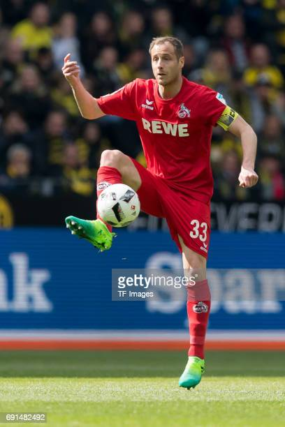 Matthias Lehmann of Colonge controls the ball during the Bundesliga match between Borussia Dortmund and FC Koeln at Signal Iduna Park on April 29...