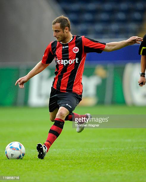 Matthias Lehmann of Frankfurt runs with the ball during the Second Bundesliga match between Eintracht Frankfurt and FC St Pauli at Commerzbank Arena...