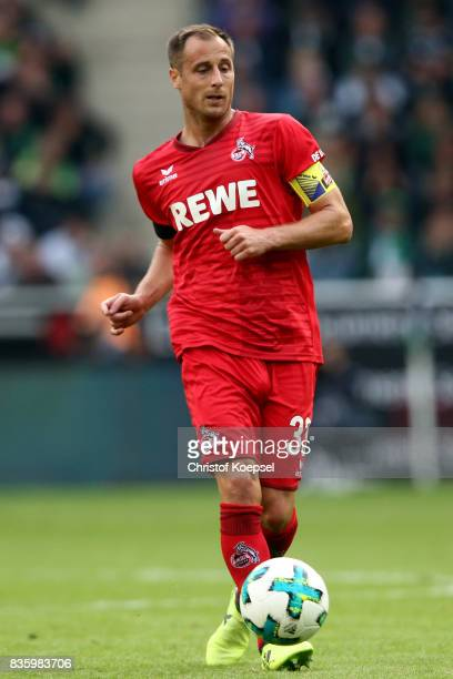 Matthias Lehmann of Kln runs with the ball during the Bundesliga match between Borussia Moenchengladbach and 1 FC Koeln at BorussiaPark on August 20...