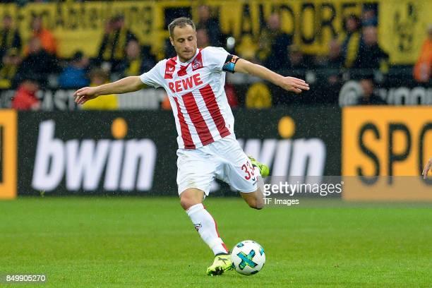 Matthias Lehmann of Koeln controls the ball during the Bundesliga match between Borussia Dortmund and 1 FC Koeln at the Signal Iduna Park on...