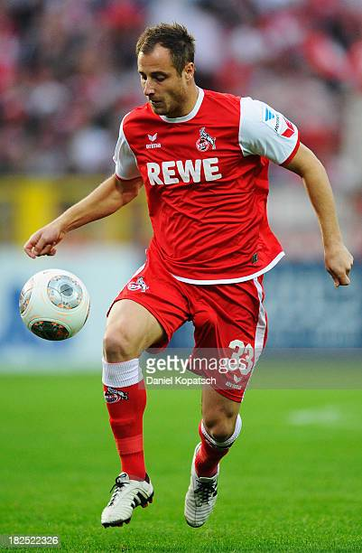 Matthias Lehmann of Koeln controls the ball during the second Bundesliga match between VfR Aalen and 1 FC Koeln at ScholzArena on September 27 2013...
