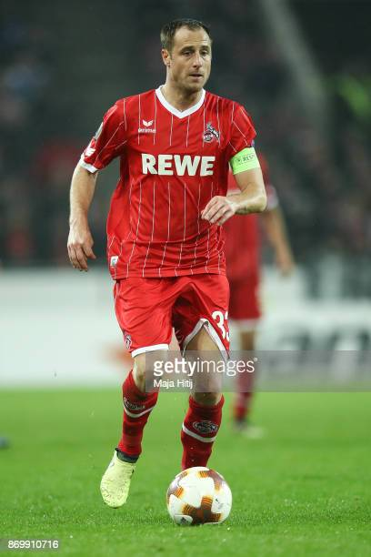 Matthias Lehmann of Koeln controls the ball during the UEFA Europa League group H match between 1 FC Koeln and BATE Borisov at RheinEnergieStadion on...