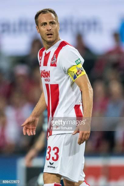 Matthias Lehmann of Koeln looks disappointed during the Bundesliga match between 1 FC Koeln and Hamburger SV at RheinEnergieStadion on August 25 2017...