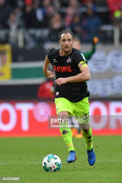 Matthias Lehmann of Koeln plays the ball during the Bundesliga match between FC Augsburg and 1 FC Koeln at WWKArena on September 9 2017 in Augsburg...