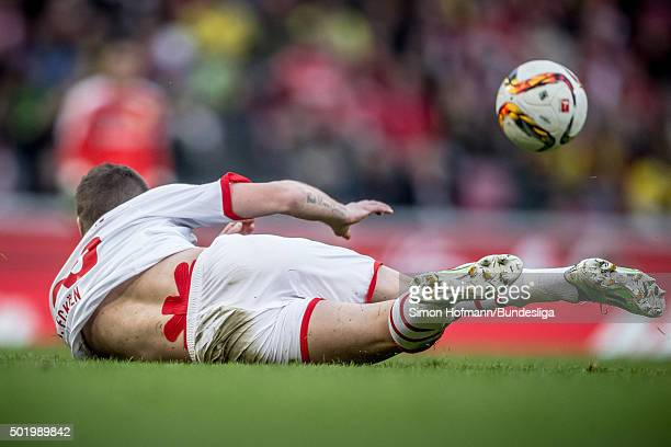 Matthias Lehmann of Koeln reacts during the Bundesliga match between 1 FC Koeln and Borussia Dortmund at RheinEnergieStadion on December 19 2015 in...