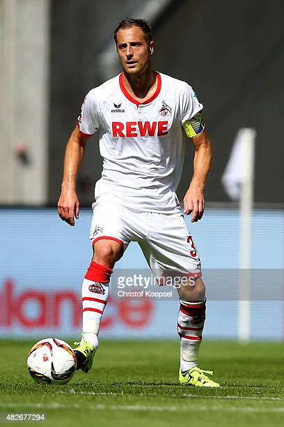 Matthias Lehmann of Koeln runs with the ball during the Colonia Cup 2015 match between 1 FC Koeln and Stoke City FC at RheinEnergieStadion on August...